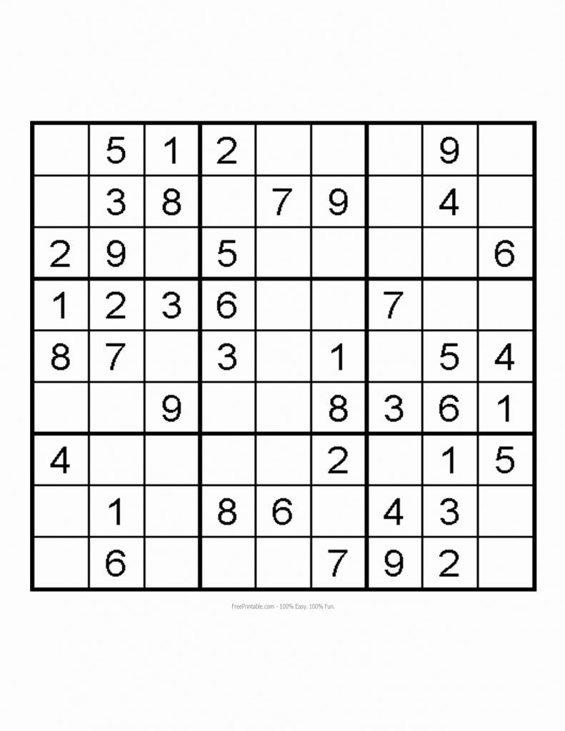 Easy Printable Sudoku – Rtrs.online | Printable Sudoku Very Easy