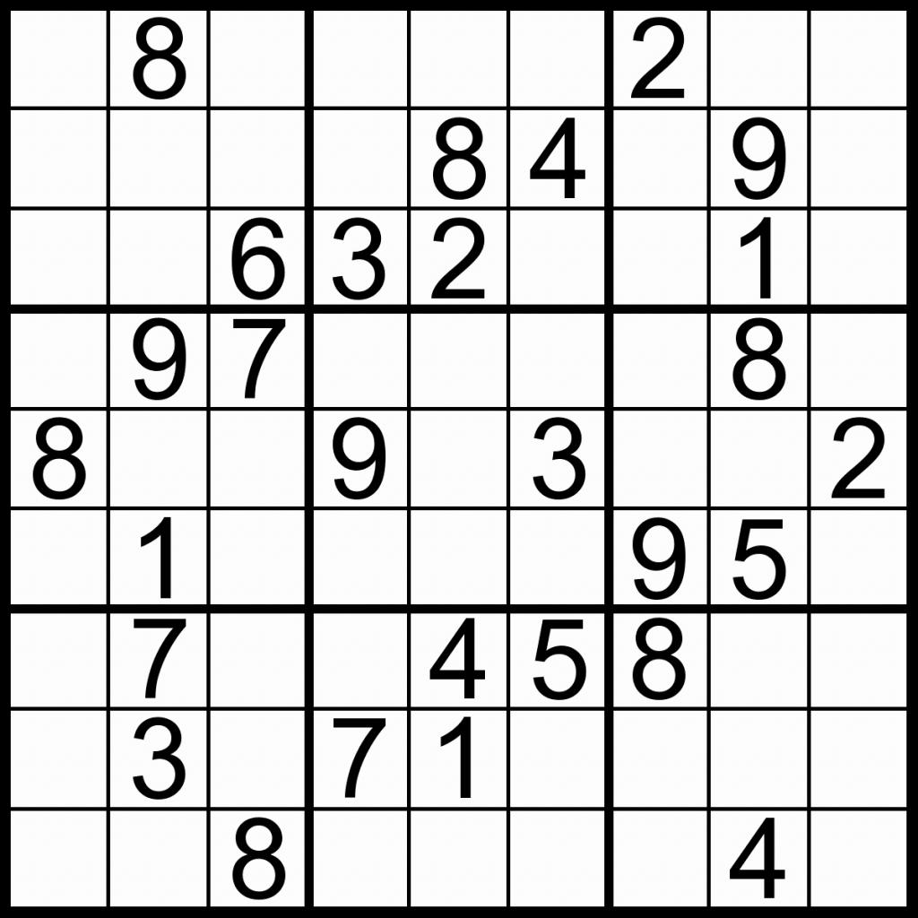 Easy Printable Sudoku – Rtrs.online   Printable Sudoku Very Easy