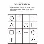 Easy Shapes Sudoku For Kindergarteners | Sudoku Activity Worksheets | Printable Mixed Sudoku