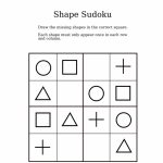 Easy Shapes Sudoku For Kindergarteners | Sudoku Activity Worksheets | Printable Sudoku For Kindergarten