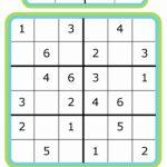 Easy Sudoku For Kids   4X4, 6X6, 9X9 | 6 X 6 Sudoku Printable