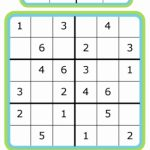 Easy Sudoku For Kids   4X4, 6X6, 9X9 | 9 X 9 Sudoku Printable