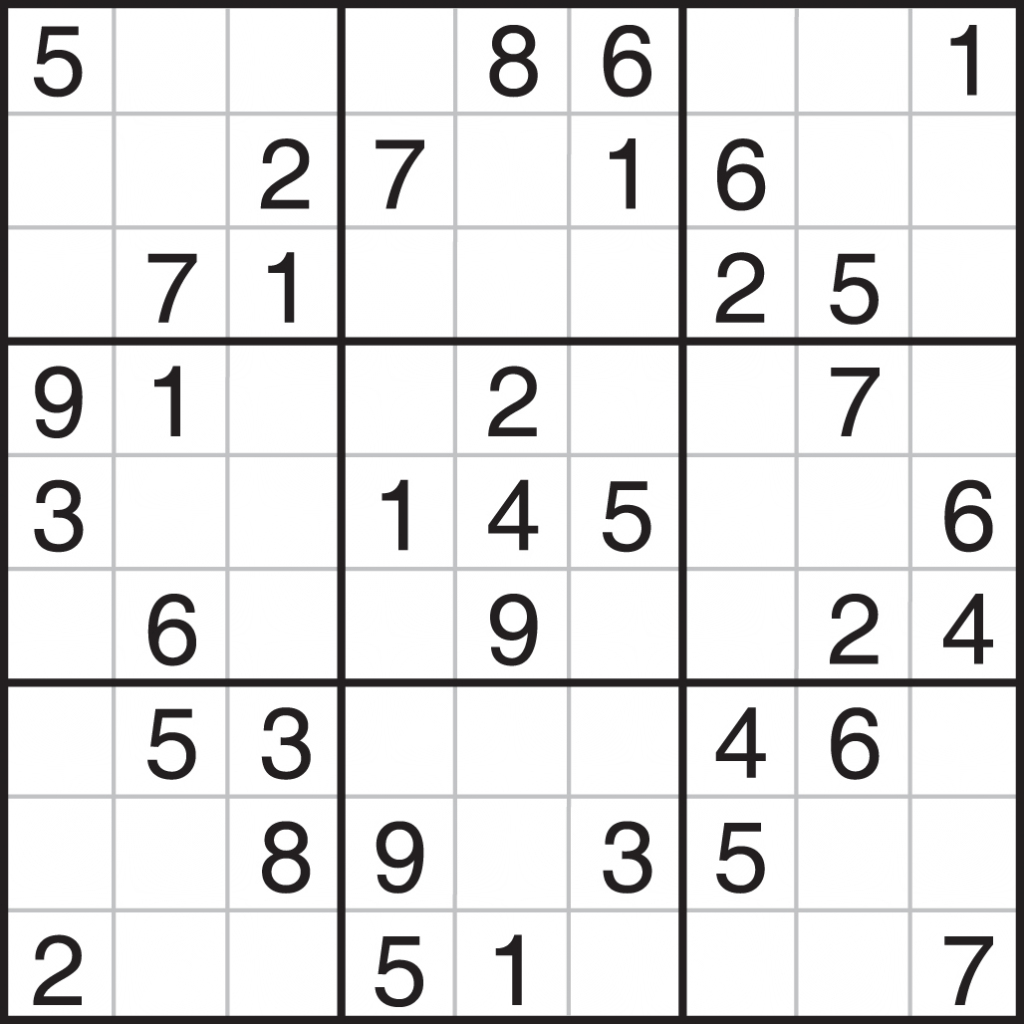 Easy Sudoku Printable - Canas.bergdorfbib.co | Printable Sudoku Large Print