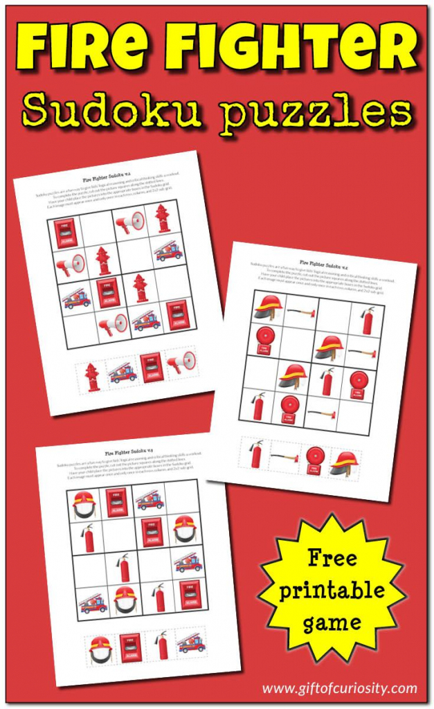 Fire Fighter Sudoku Puzzles {Free Printables} | Free Educational | Free Printable Sudoku Uk