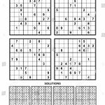 Four Sudoku Puzzles Comfortable Easy Yet Stock Vector (Royalty Free | Printable Sudoku Worksheets Easy