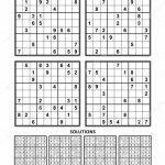 Four Sudoku Puzzles Comfortable Easy Yet Very Easy Level Letter | Printable Sudoku Four Per Page