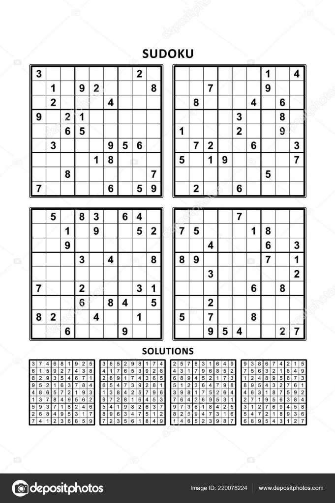 Four Sudoku Puzzles Comfortable Easy Yet Very Easy Level Letter | Printable Sudoku Very Easy