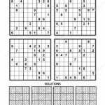 Four Sudoku Puzzles Comfortable Easy Yet Very Easy Level Letter | Sudoku Printable A4
