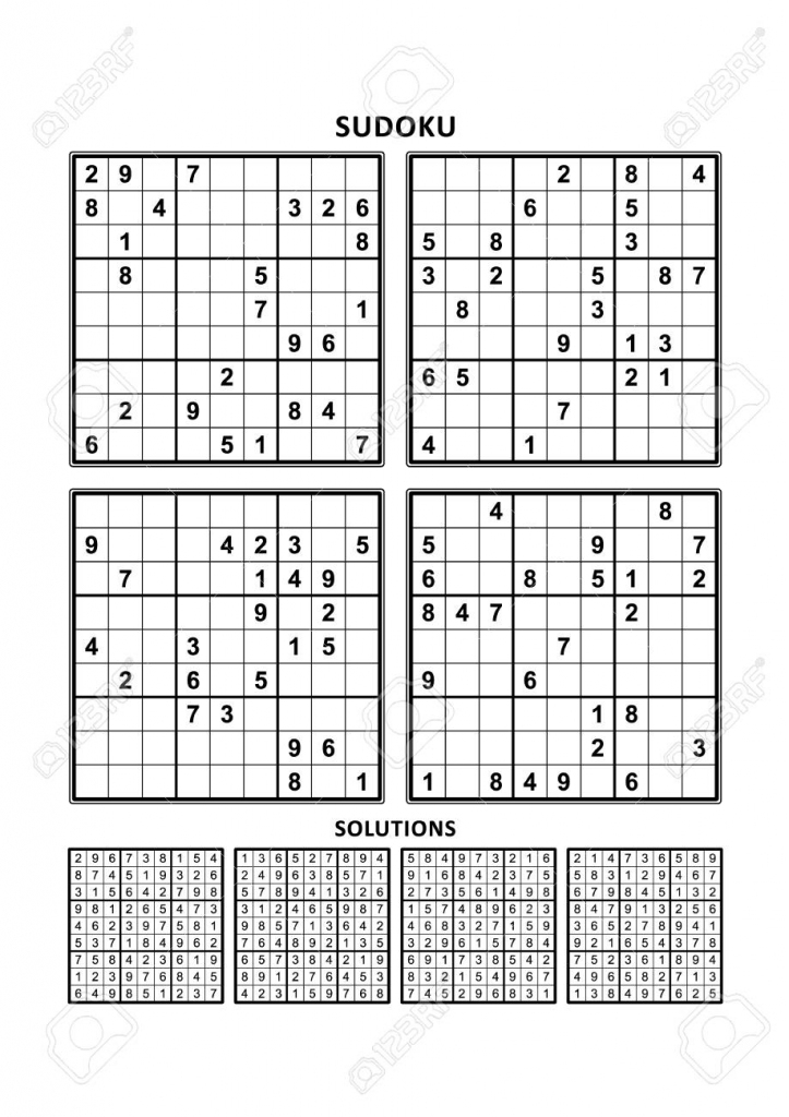 Four Sudoku Puzzles Of Comfortable (Easy, Yet Not Very Easy | Level 2 Sudoku Printable