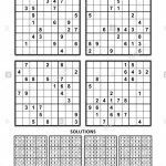 Four Sudoku Puzzles Of Comfortable (Easy, Yet Not Very Easy) Level | 6 Printable Sudoku Per Page With Solution