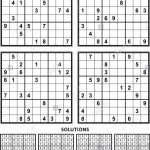 Four Sudoku Puzzles Of Comfortable (Easy, Yet Not Very Easy) Level | Printable Letter Sudoku Puzzles