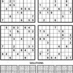 Four Sudoku Puzzles Of Comfortable (Easy, Yet Not Very Easy) Level | Printable Sudoku Book