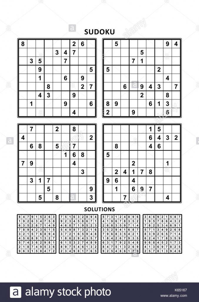 Four Sudoku Puzzles Of Comfortable (Easy, Yet Not Very Easy) Level | Printable Sudoku Four Per Page