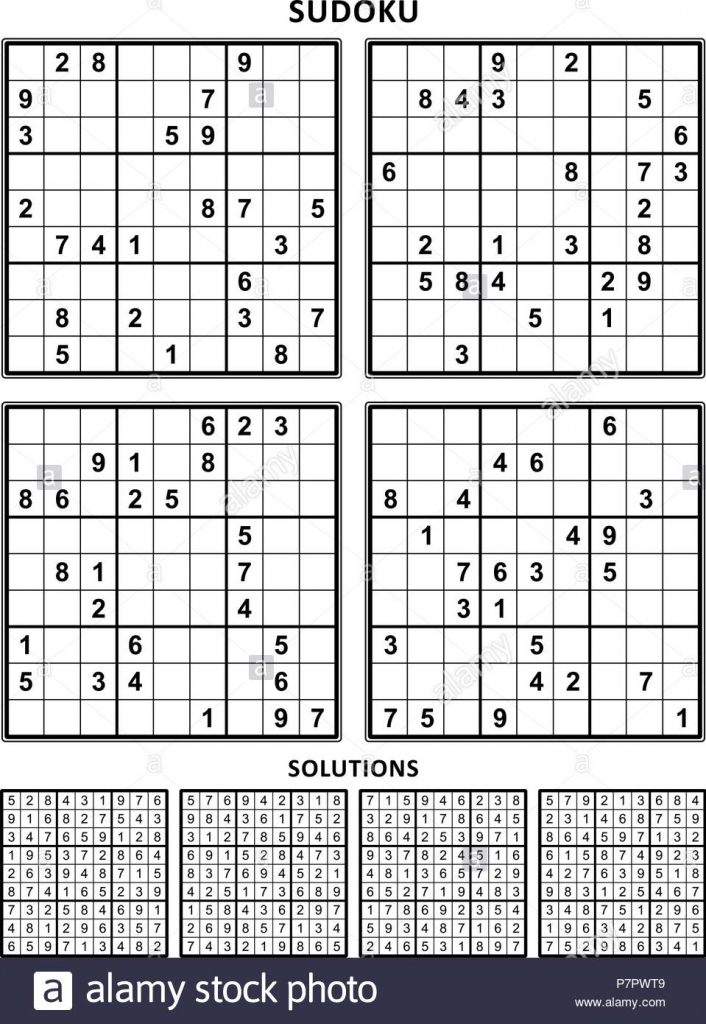 Four Sudoku Puzzles Of Comfortable (Easy, Yet Not Very Easy) Level | Sudoku Printable 4