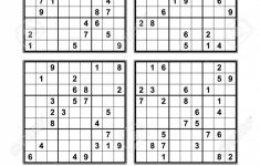 Printable Sudoku Four Per Page