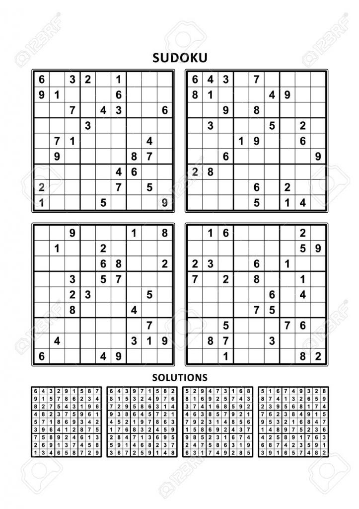 Printable Sudoku Four Per Page Printable Sudoku Free