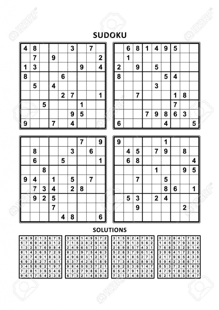 Four Sudoku Puzzles Of Comfortable Easy Yet Not Very Easy