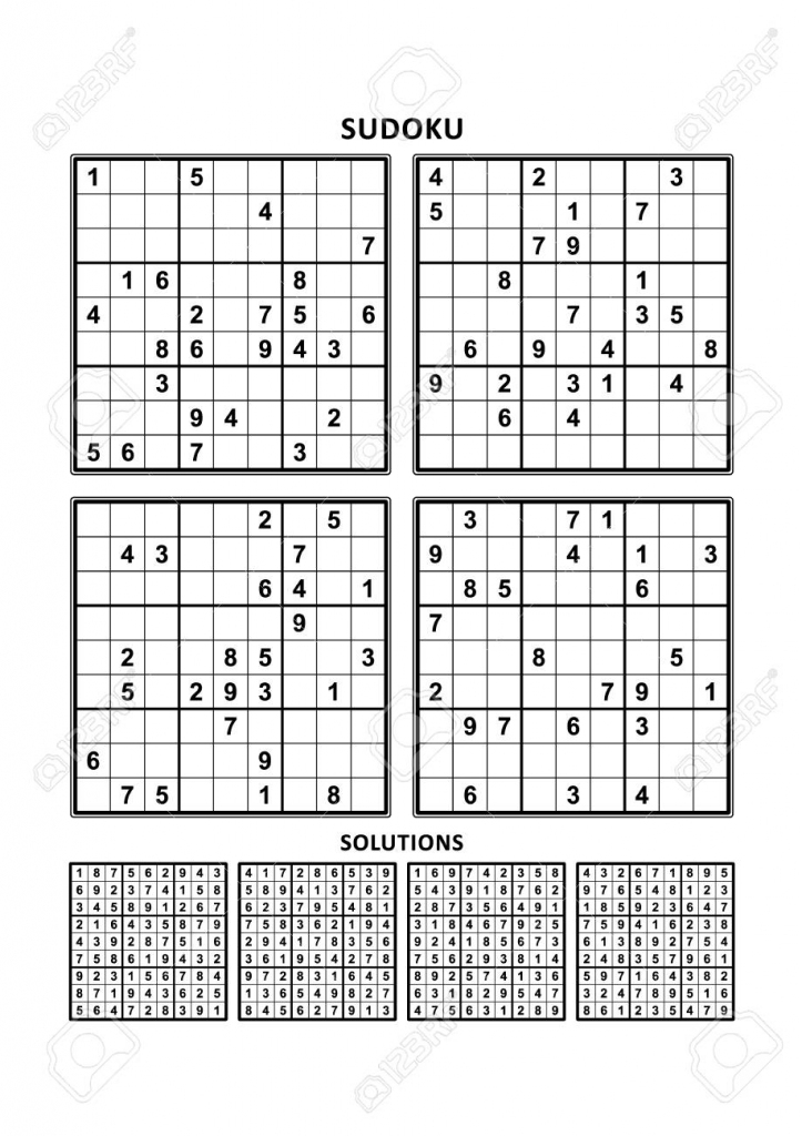 Four Sudoku Puzzles Of Comfortable (Easy, Yet Not Very Easy | Printable Sudoku Puzzles Free Millions
