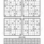 Four Sudoku Puzzles Of Comfortable (Easy, Yet Not Very Easy | Printable Sudoku Puzzles Medium 3 Answers