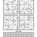 Four Sudoku Puzzles Of Comfortable (Easy, Yet Not Very Easy | Sudoku Printable A4