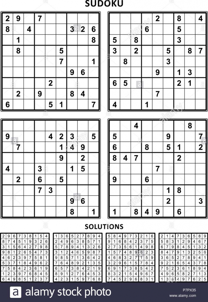 Four Sudoku Puzzles Of Comfortable Level, On A4 Or Letter Sized Page | Printable Sudoku With Letters And Numbers