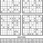 Four Sudoku Puzzles Of Comfortable Level, On A4 Or Letter Sized Page | Sudoku Printable A4
