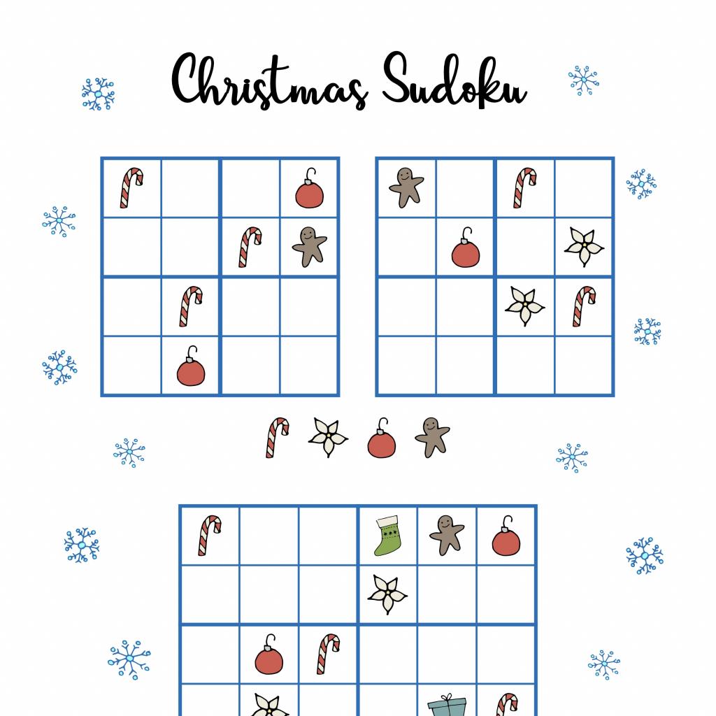 Free Christmas Printables - Sudoku ⋆ Mama Geek | Printable Sudoku Christmas