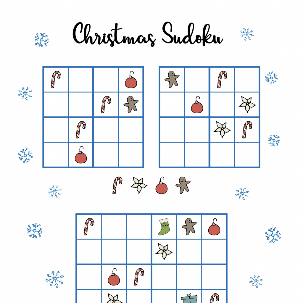 Free Christmas Printables - Sudoku ⋆ Mama Geek | Sudoku Junior Printable