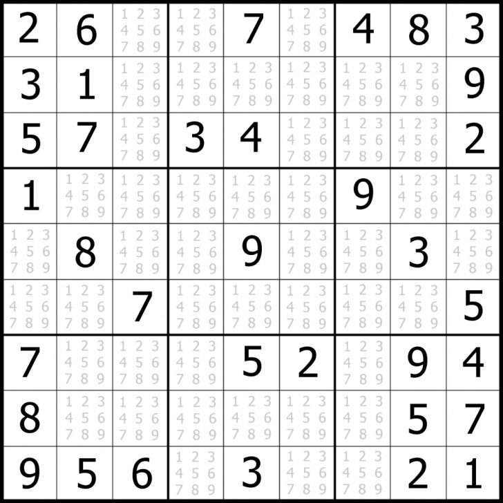 Printable Sudoku 5 Puzzles
