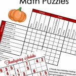 Free} Fun Thanksgiving Math Puzzles For Older Kids | Math Geek Mama | Free Printable Thanksgiving Sudoku