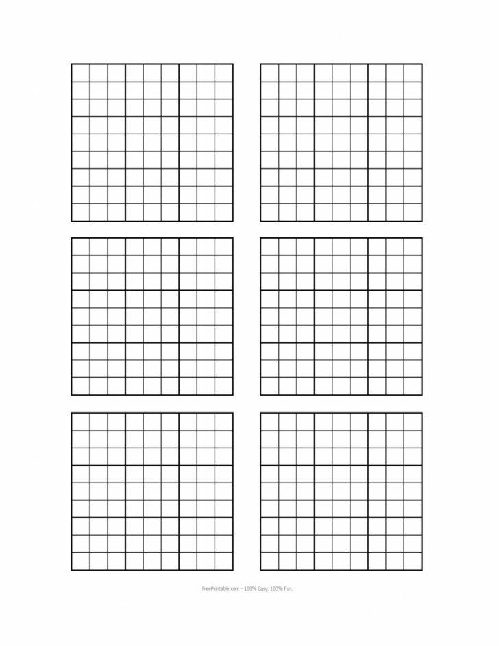 Printable Blank Sudoku Forms