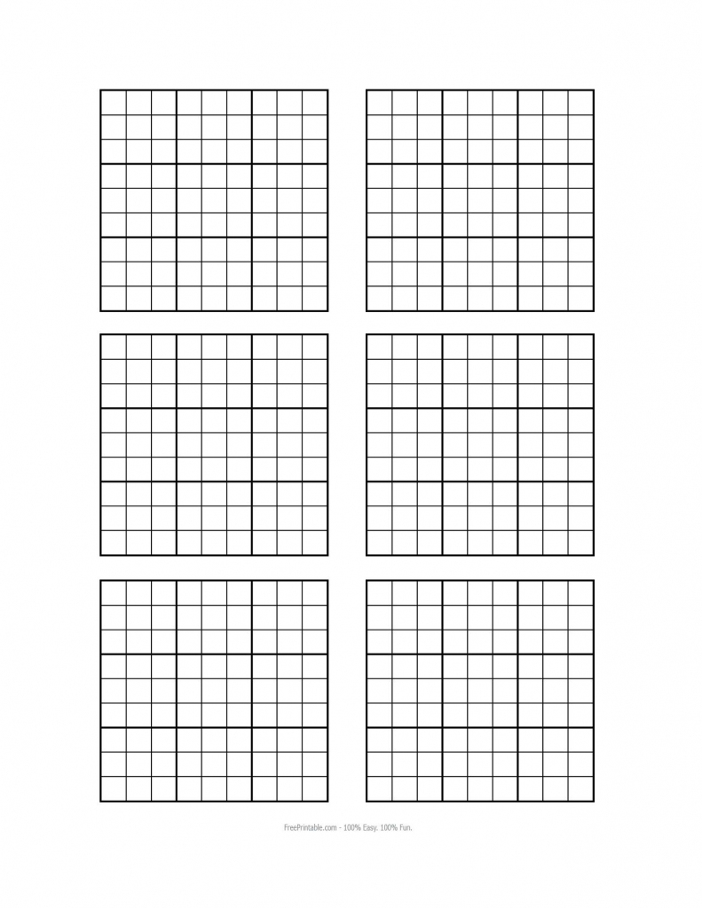 Free Printable Blank Sudoku Grids | Misc Stuff | Grid Paper | Printable Sudoku Template