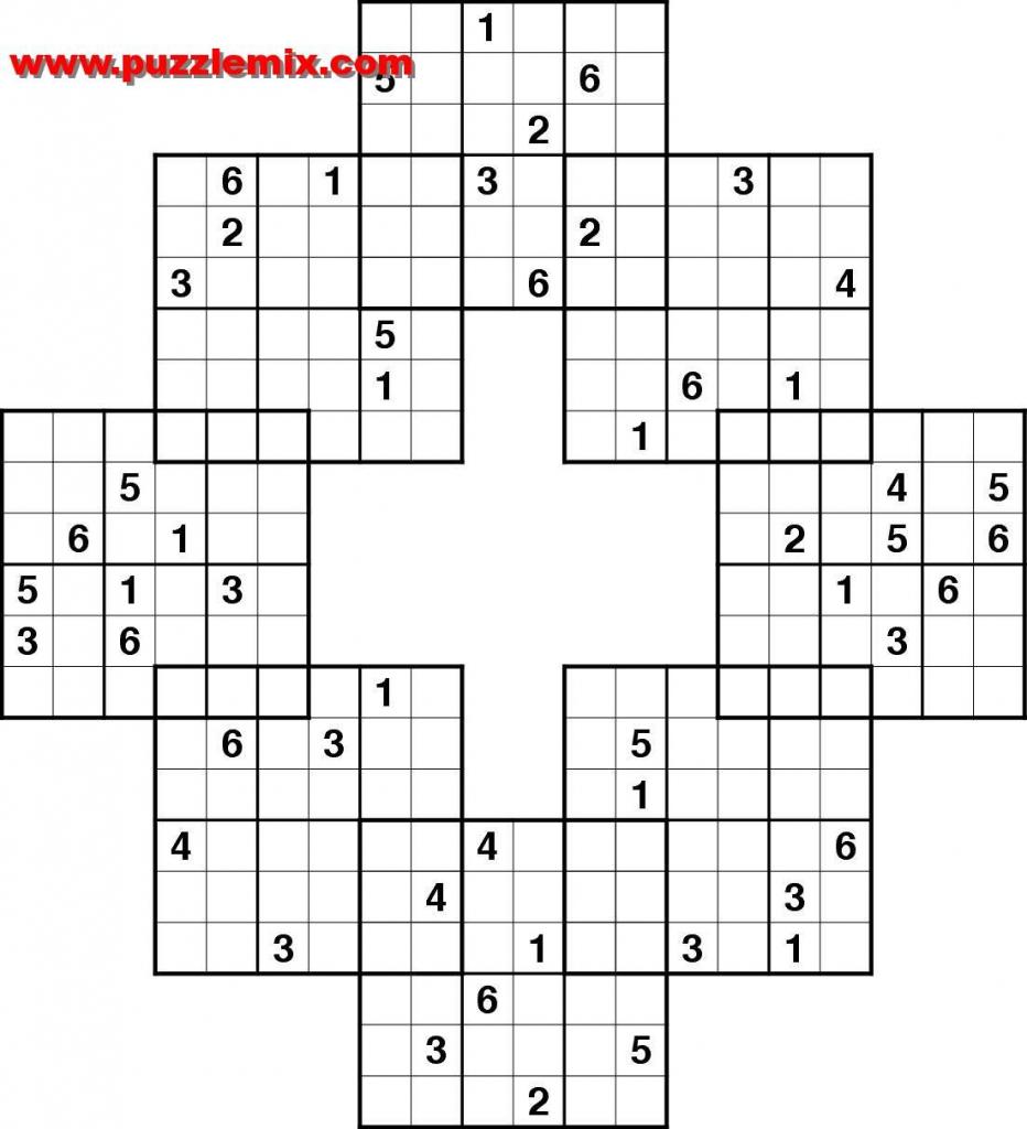 Free Printable Logic Puzzles With Grid | Kuzikerin Printable Matrix | Printable Samurai Sudoku With Answers