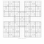 Free Printable Samurai Sudoku Puzzles | Spellen   Sudoku Puzzles | Printable Samurai Sudoku Medium