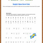 Free Printable Secret Code Word Puzzle For Kids. This Puzzle Has A | Printable Binary Sudoku