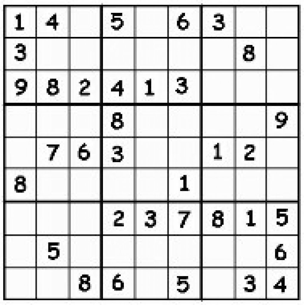 Free Printable Sudoku | Free Printable | Printable Sudoku By Livewire