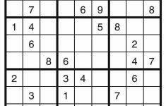 Printable Sudoku Template