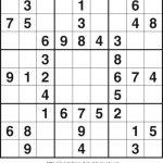 Free Printable Sudoku Puzzles   Free Printable   Printable Sudoku By Livewire