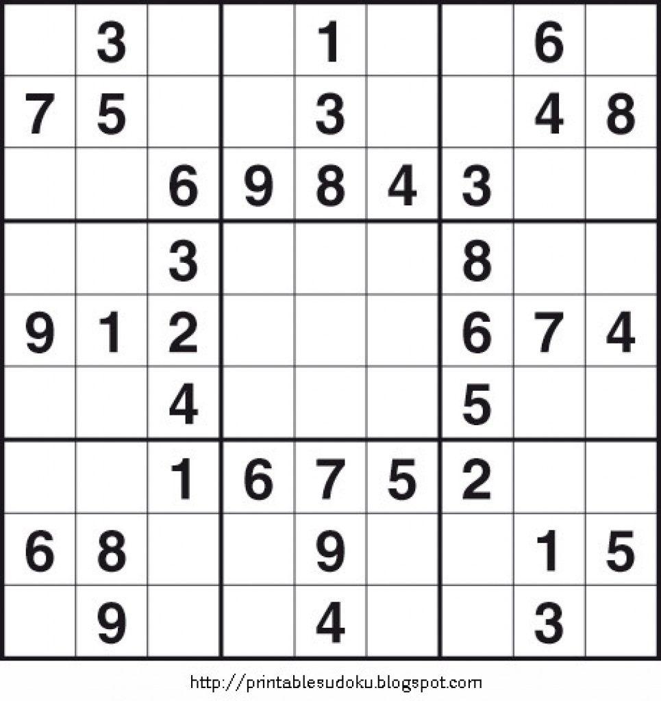 Free Printable Sudoku Puzzles | Free Printable | Printable Sudoku By Livewire