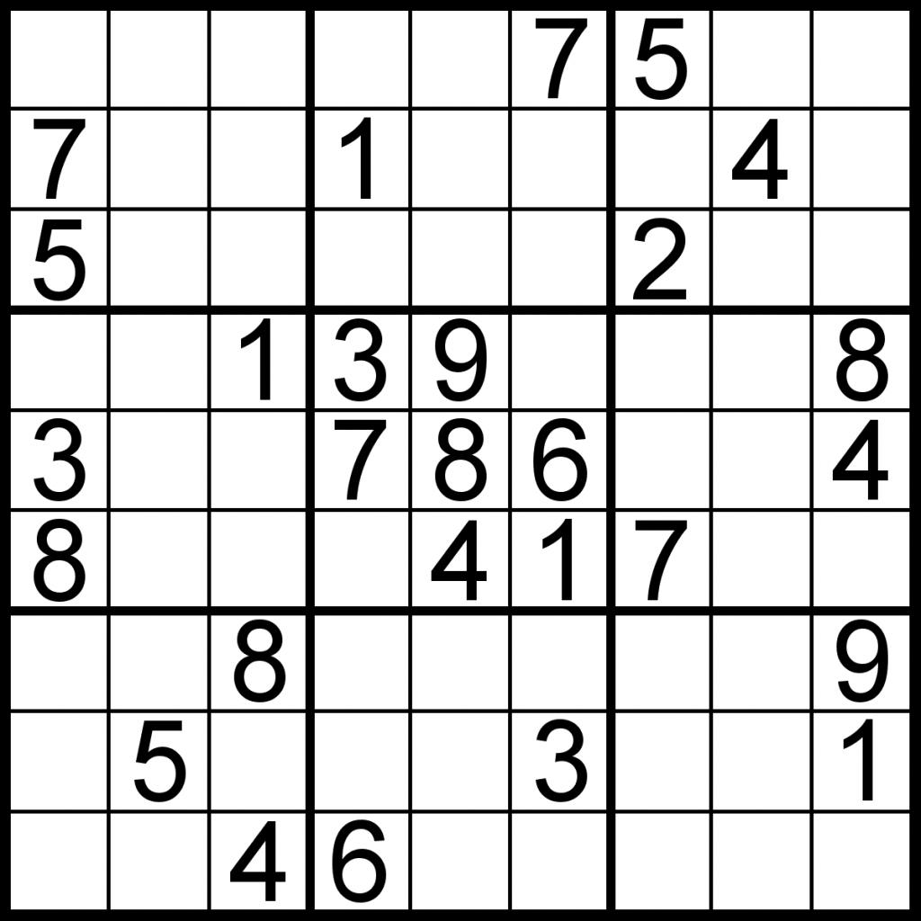 Free Sudoku For Your Local Publications! – Sudoku Of The Day | Printable Sudoku Images