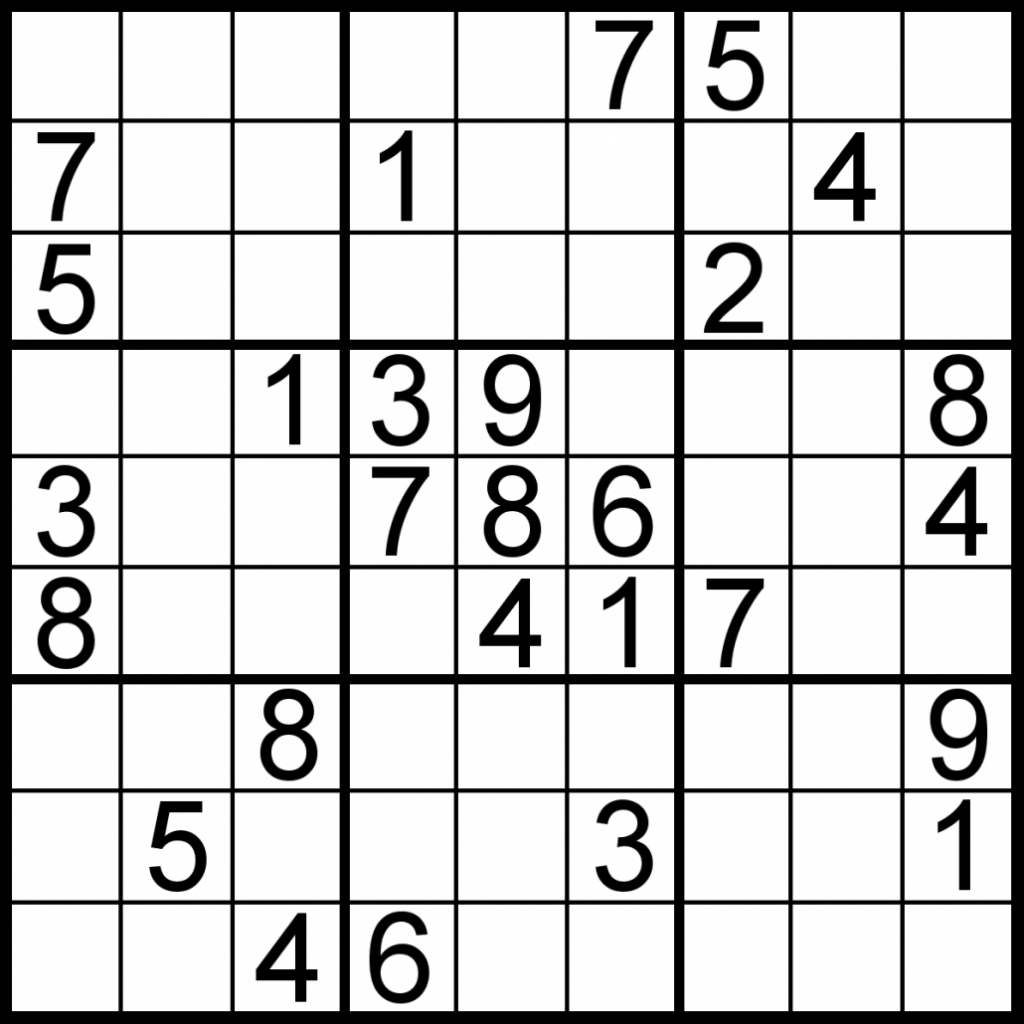 Free Sudoku For Your Local Publications! – Sudoku Of The Day | Printable Sudoku Large Print