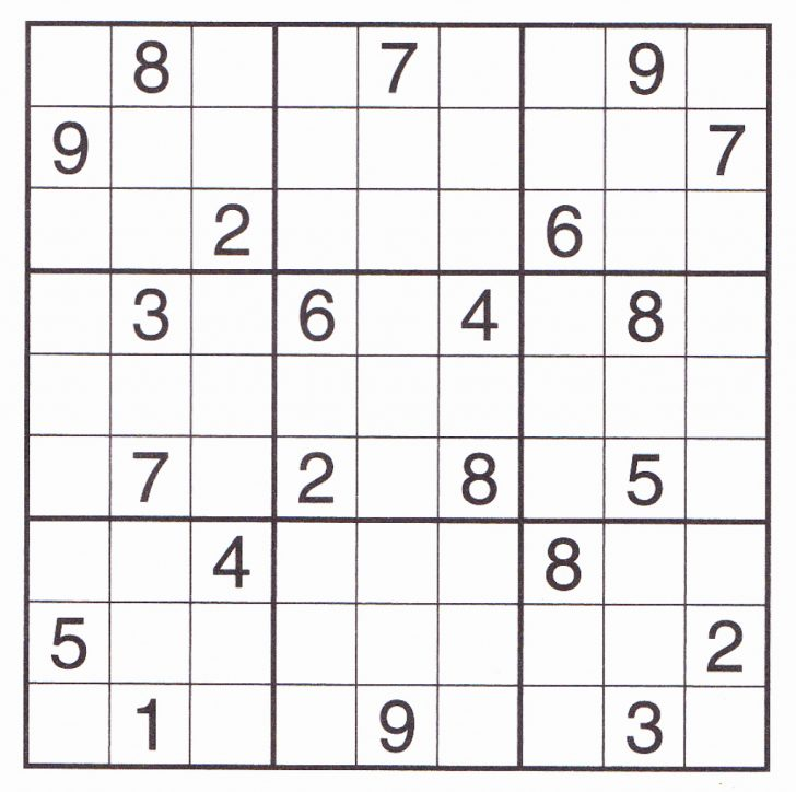 Printable Elementary Sudoku Puzzles