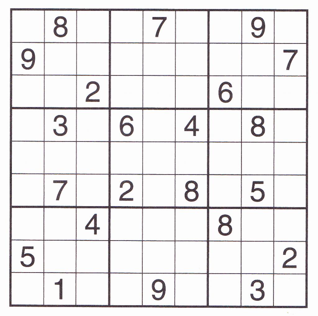 Free Sudoku Printable – Rtrs.online | Printable Sudoku For Kids