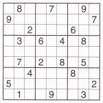 Free Sudoku Printable – Rtrs.online | Printable Sudoku For March 16 2019