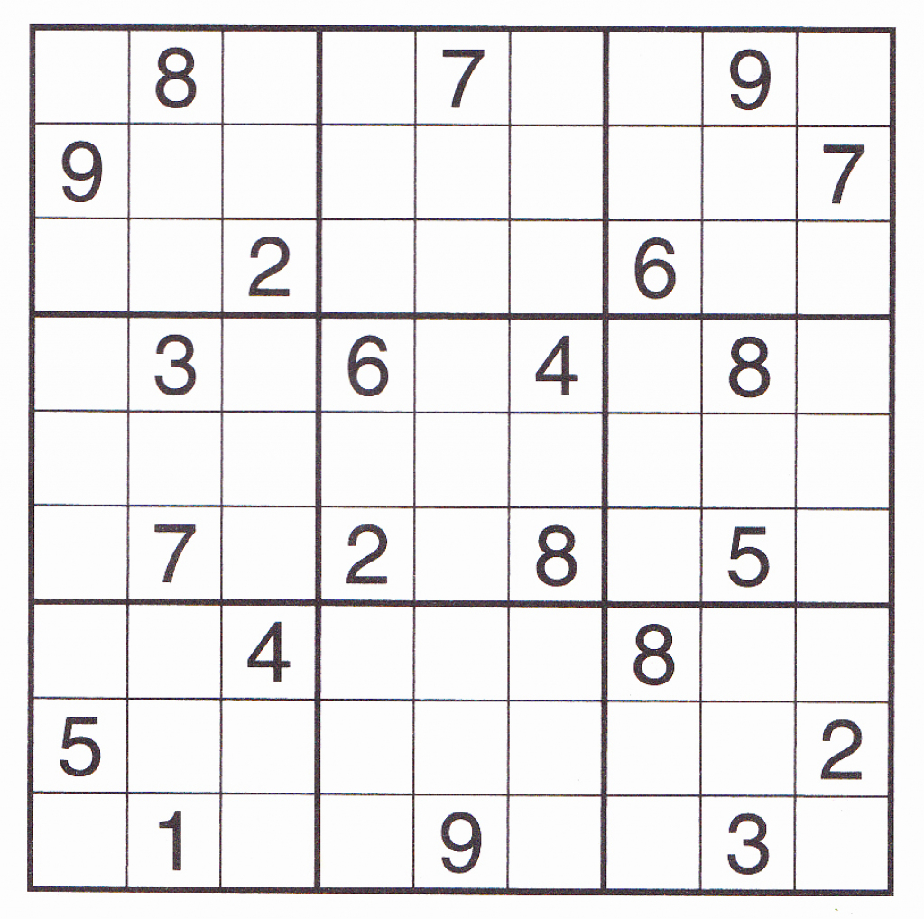 Free Sudoku Printable – Rtrs.online | Printable Sudoku For March 16 2019