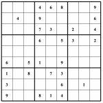 Free Sudoku Puzzle: Hard 013 | Free Sudoku Puzzles | Printable Sudoku Blank Puzzles 4 Per Page