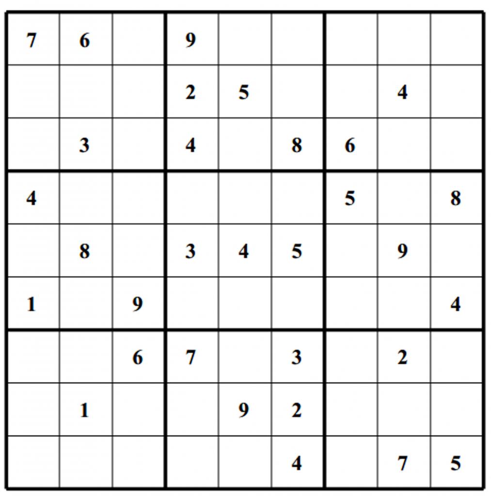 Free Sudoku Puzzles | Enjoy Daily Free Sudoku Puzzles From Walapie | 4 Sudoku Printable