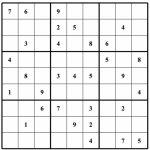 Free Sudoku Puzzles   Enjoy Daily Free Sudoku Puzzles From Walapie   Printable Blank Sudoku Template