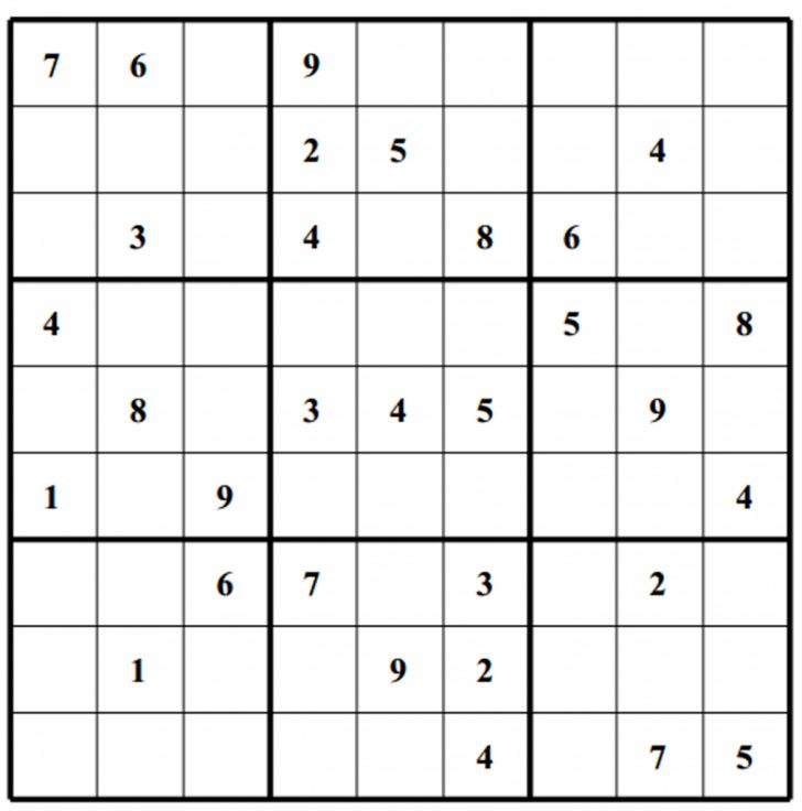 Printable Newspaper Sudoku