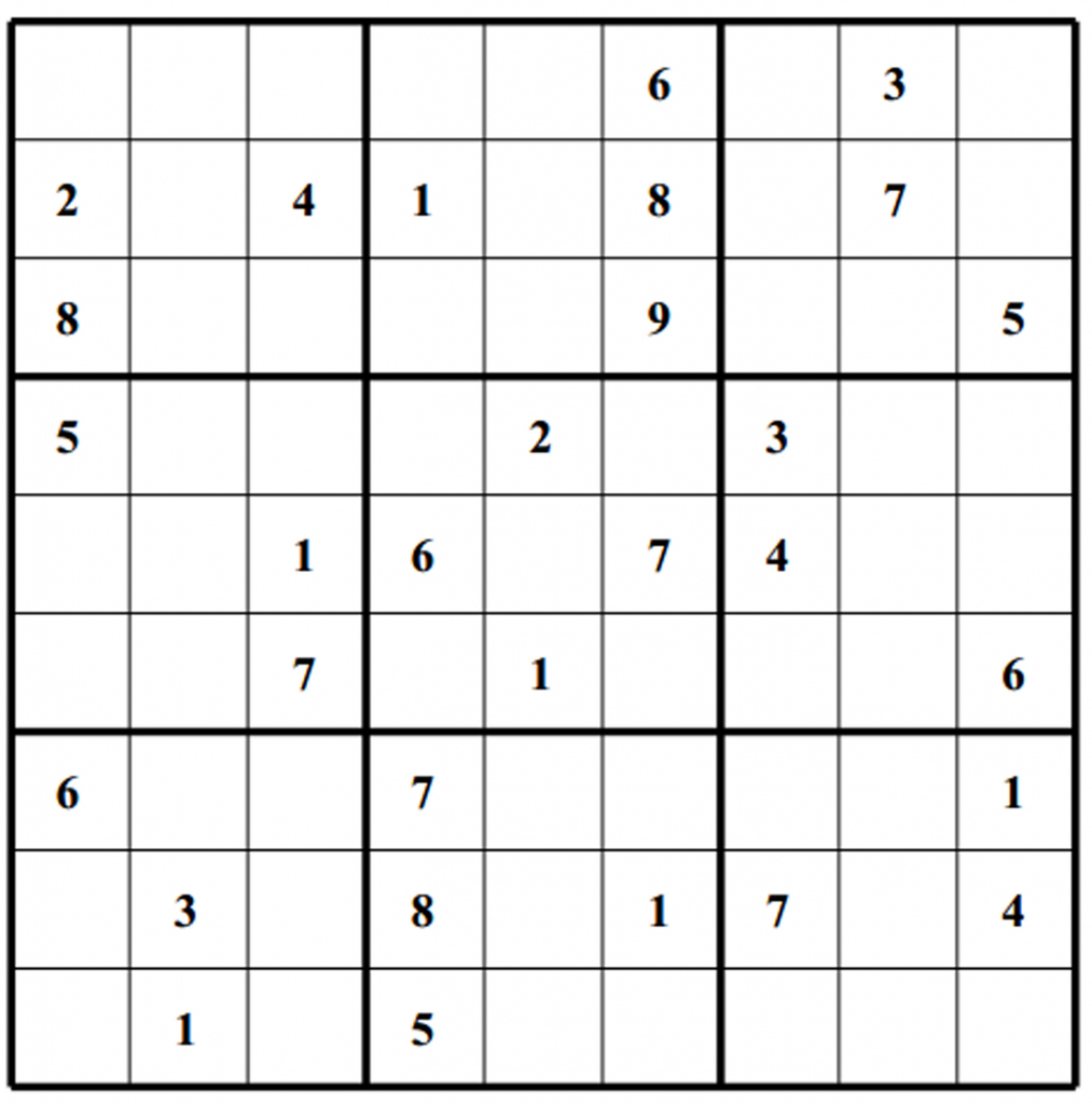 Free Sudoku Puzzles | Enjoy Daily Free Sudoku Puzzles From Walapie | Printable Sudoku Blank Puzzle Form